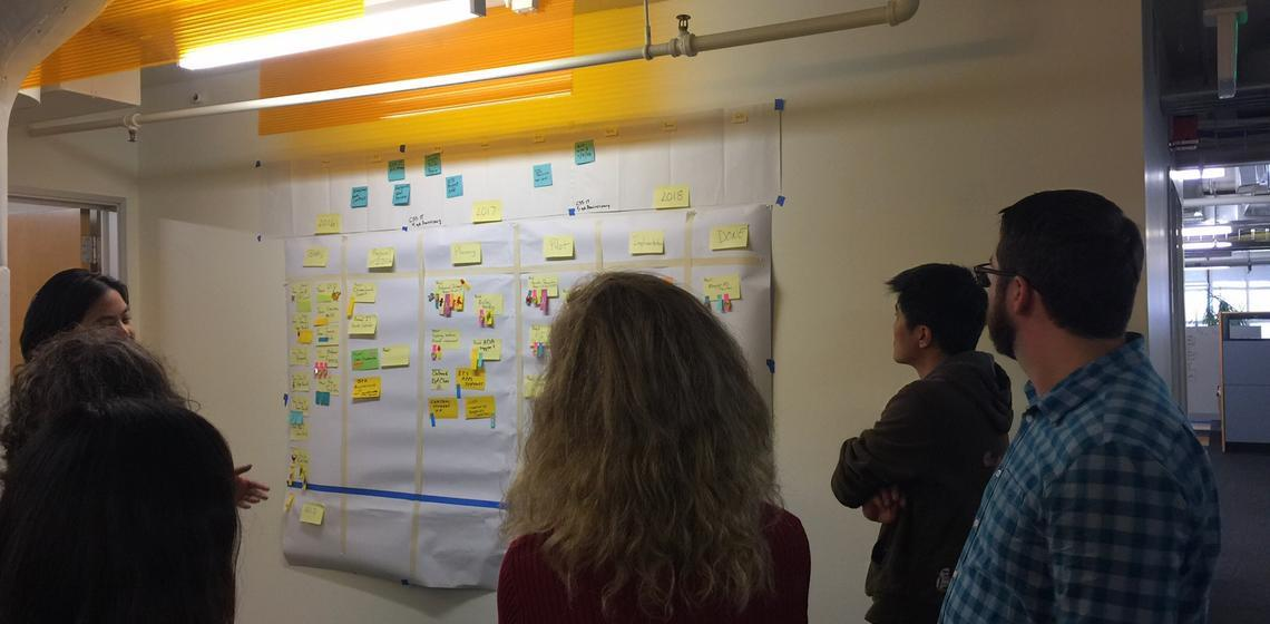 Team members contributing to the project plan